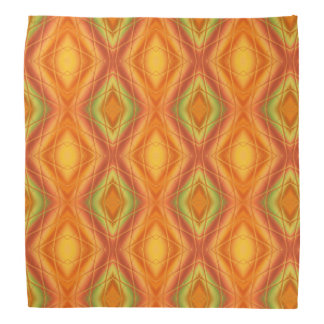 Orange und grünes abstraktes Muster Kopftuch