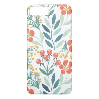 Orange und grünes BlumenIphone7 plus iPhone 8 Plus/7 Plus Hülle