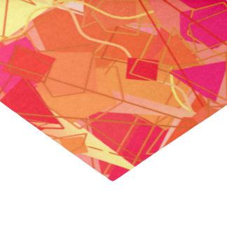 Orange und heißes Rosa abstrakt Seidenpapier