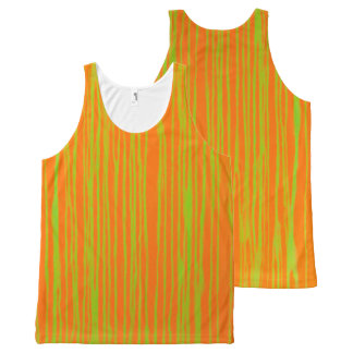 Orange und Limoner Streifen-Behälter T durch JP Komplett Bedrucktes Tanktop
