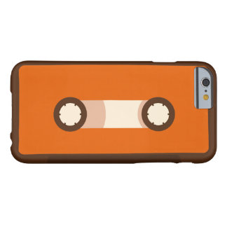 Orange und Retro Kassette Browns Barely There iPhone 6 Hülle