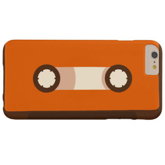 Orange und Retro Kassette Browns Barely There iPhone 6 Plus Hülle