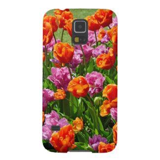 Orange und rosa Frühlingstulpegarten Samsung Galaxy S5 Hüllen