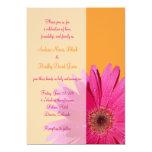 Orange und rosa personalisierte ankündigungskarte