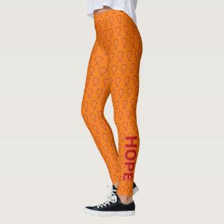 Orange und rote leggings