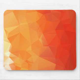 Orange und rotes Facetten-Muster Mousepads