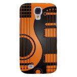Orange und schwarze akustische E-Gitarren Yin Yan