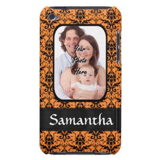 Orange und schwarzer Damast Case-Mate iPod Touch Hülle
