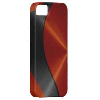 Orange und schwarzes Edelstahl-Metall iPhone 5 Case