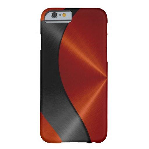 Orange und schwarzes Edelstahl-Metall Barely There iPhone 6 Hülle