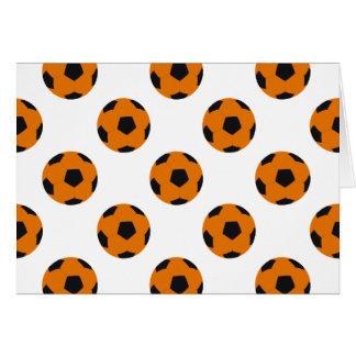 Orange und schwarzes Fußball-Muster Karte
