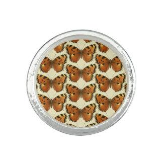 Orange und schwarzes Schmetterlings-Muster Ringe