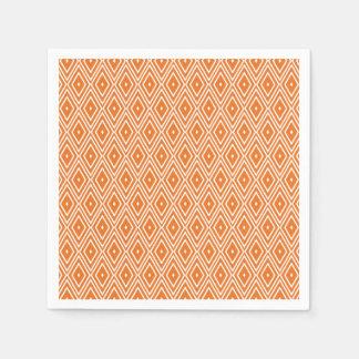 Orange und weiße Diamant-Entwurfs-Servietten Papierserviette