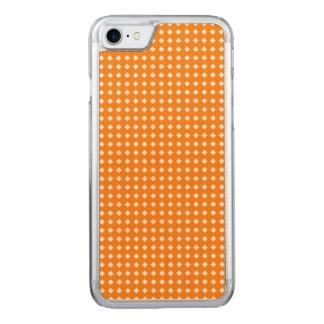 Orange und weiße geometrische Muster-Diamanten Carved iPhone 8/7 Hülle