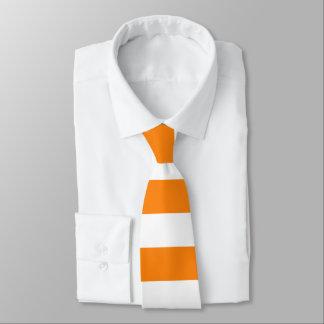 Orange und weiße Streifen-Krawatte Individuelle Krawatte