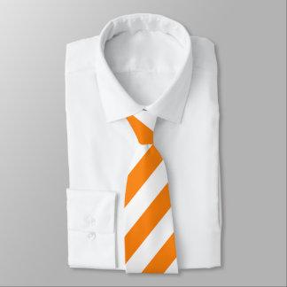 Orange und weiße Streifen-Krawatte Personalisierte Krawatte