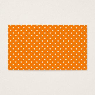 Orange und weiße Tupfen Visitenkarte
