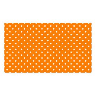 Orange und weiße Tupfen Visitenkarten