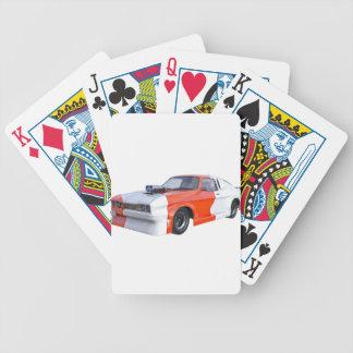 Orange und weißer Rennwagen Bicycle Spielkarten