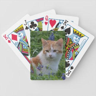 Orange und weißer Tabby Bicycle Spielkarten
