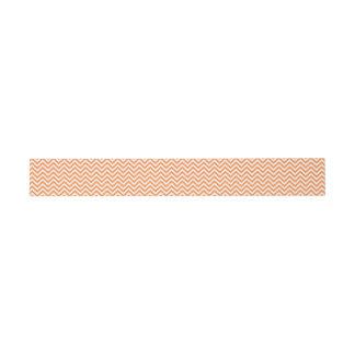 Orange und weißer Zickzack Stripes Zickzack Muster Einladungsbanderole