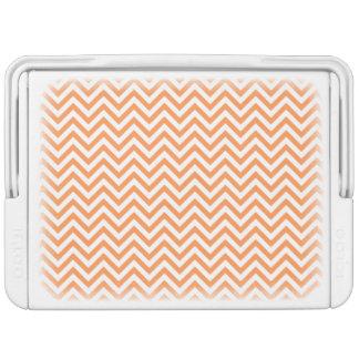 Orange und weißer Zickzack Stripes Zickzack Muster Kühlbox