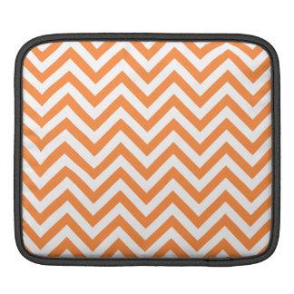 Orange und weißer Zickzack Stripes Zickzack Muster Sleeve Für iPads