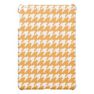 Orange und weißes Hahnentrittmuster iPad Minifall iPad Mini Hülle