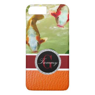 Orange und weißes Koi iPhone 8 Plus/7 Plus Hülle