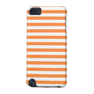 Orange und weißes Streifen-Muster iPod Touch 5G Hülle