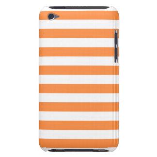 Orange und weißes Streifen-Muster iPod Touch Hülle