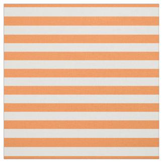 Orange und weißes Streifen-Muster Stoff