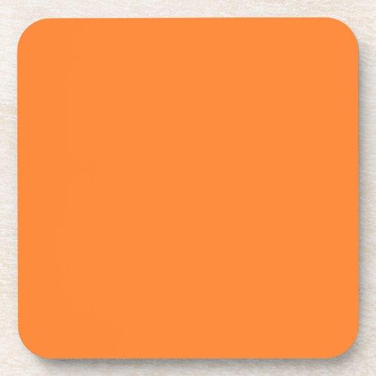 Orange Untersetzer