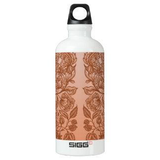 orange Verzierungen Wasserflasche