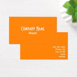 Orange Visitenkarte
