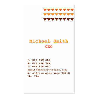 Orange Visitenkarte-Entwurf Browns Visitenkarten