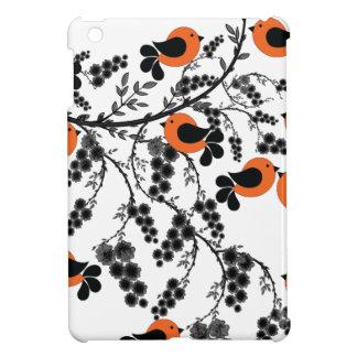 orange Vögel iPad Mini Hülle