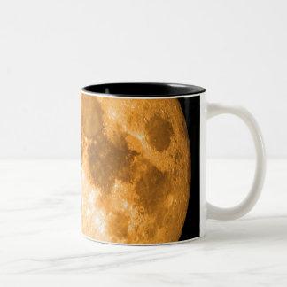 orange Vollmond Zweifarbige Tasse