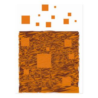 Orange wachsames Floss abstrakter schwarzer Kasten Postkarte