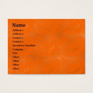 Orange Wäsche - besonders angefertigt Visitenkarte
