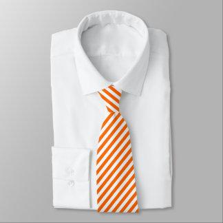 Orange weißes diagonales Streifen-Muster-cooles Krawatte