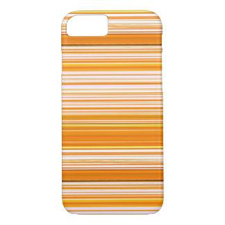 Orange weißes gelbes rosa Streifen-Muster iPhone 8/7 Hülle