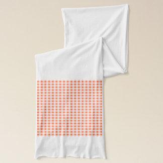 Orange weißes Gingham-Muster Schal