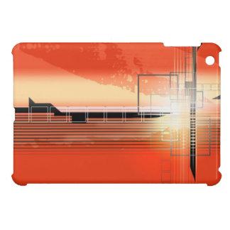 Orange weißes schwarzes High-Teches Entwurf ipad M Hülle Fürs iPad Mini