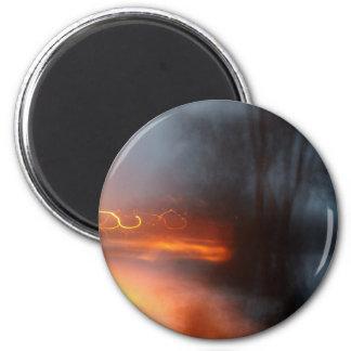 Orange Wirbel Runder Magnet 5,7 Cm