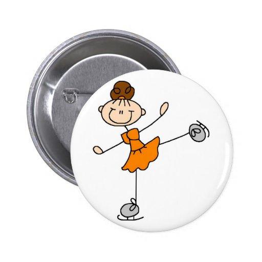Orange Zahl Skater-Knopf Button