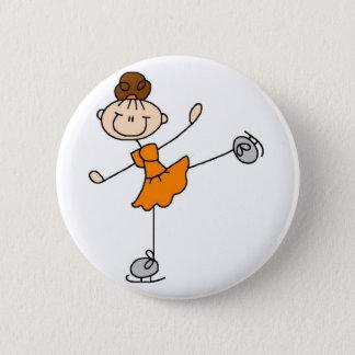 Orange Zahl Skater-Knopf Runder Button 5,1 Cm