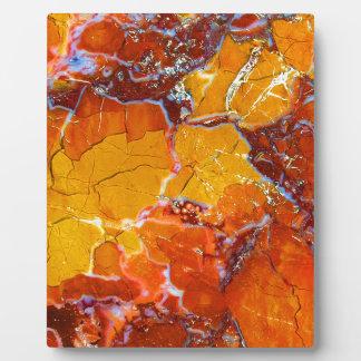 Orange-Zerquetschte Beschaffenheit Fotoplatte