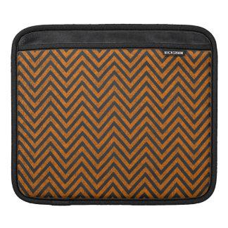Orange Zickzack Tafel-Muster Halloweens iPad Sleeve