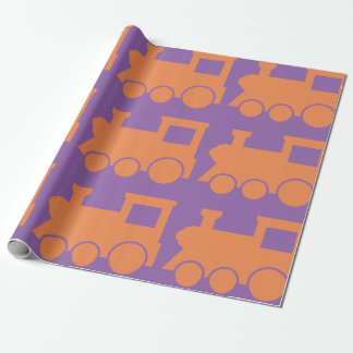 Orange Zug-Lech-Packpapier Geschenkpapier